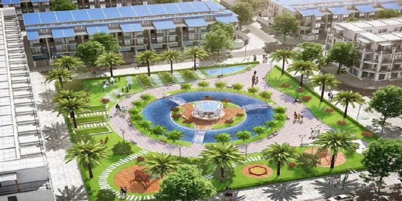 Quảng trường trung tâm khu nhà ở Đông Yên - Văn Phú Invest