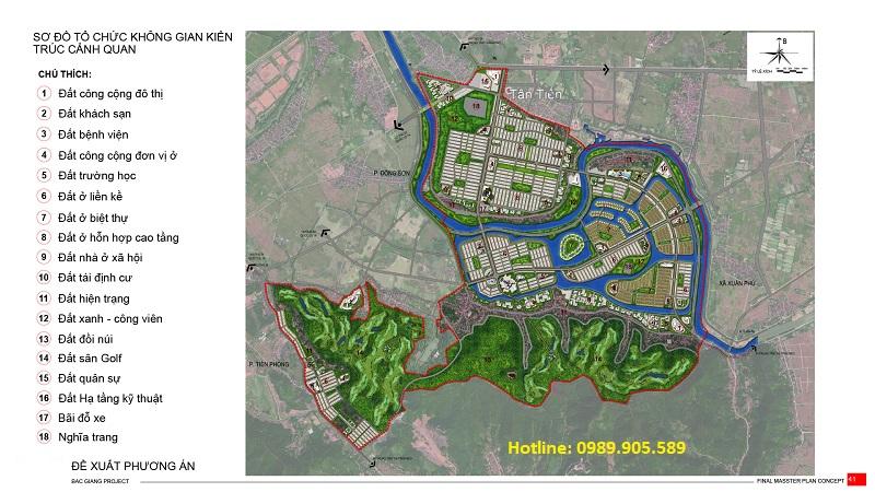 Tài liệu quy hoạch đô thị 1.500 ha của Vingroup tại Bắc Giang
