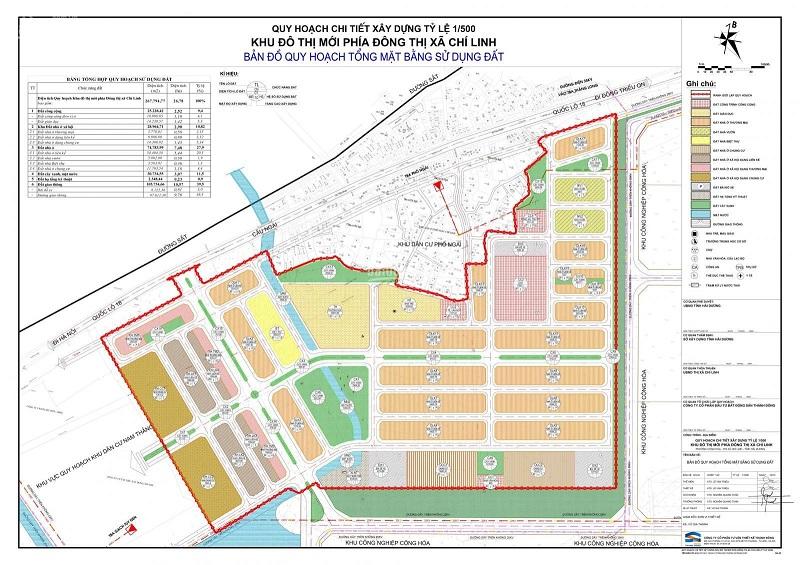 Quy hoạch chi tiết Khu đô thị mới phía đông Chi Linh North Eastern Hill