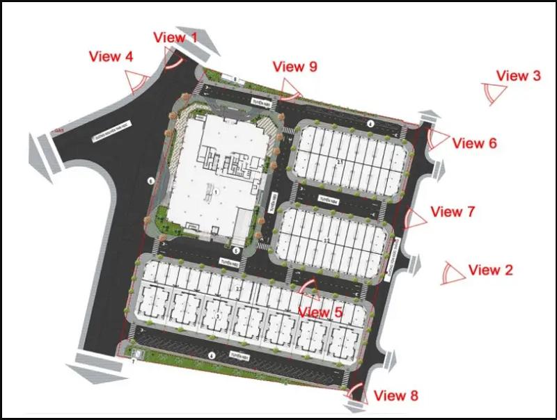 Tầm view rộng mở của Vinhomes Sky Park Bắc Giang