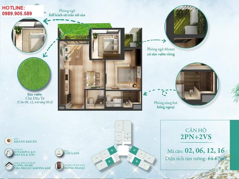 thiết kế căn L1-1116 - tòa L1 Landmark
