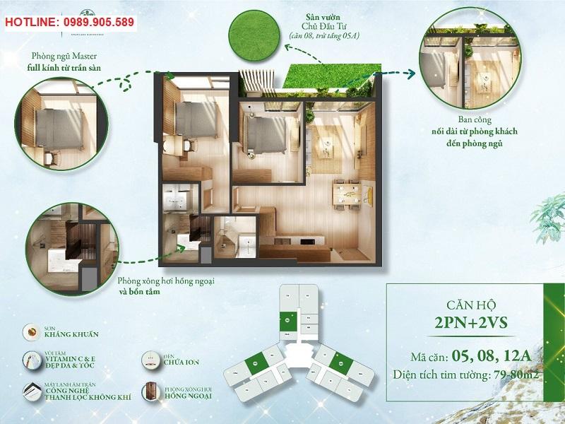 thiết kế căn L1-05A12A - tòa L1 Landmark Ecopark