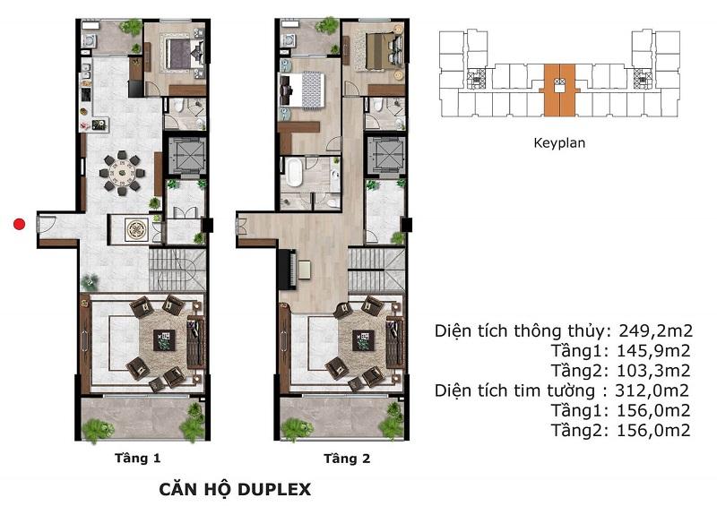 Thiết kế căn hộ Duplex Eden Garden Thái Bình