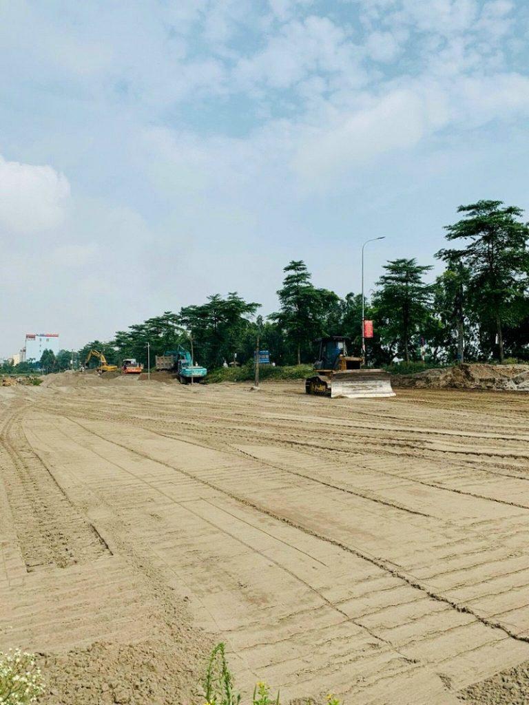 Ảnh thực tế 1 tiến độ thi công dự án khu đất đấu giá Đông Yên - Yên Phong - Bắc Ninh