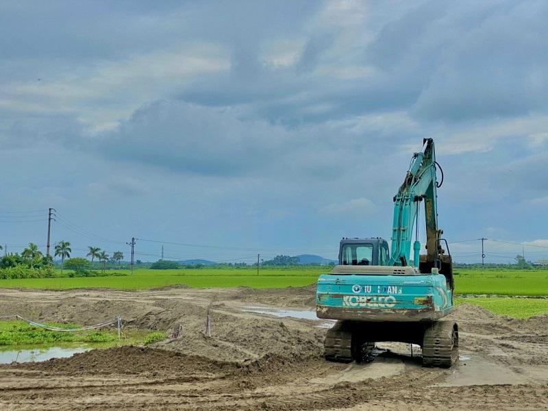 Ảnh thực tế 2 tiến độ thi công dự án khu đấu giá Đông Yên - Yên Phong - Bắc Ninh