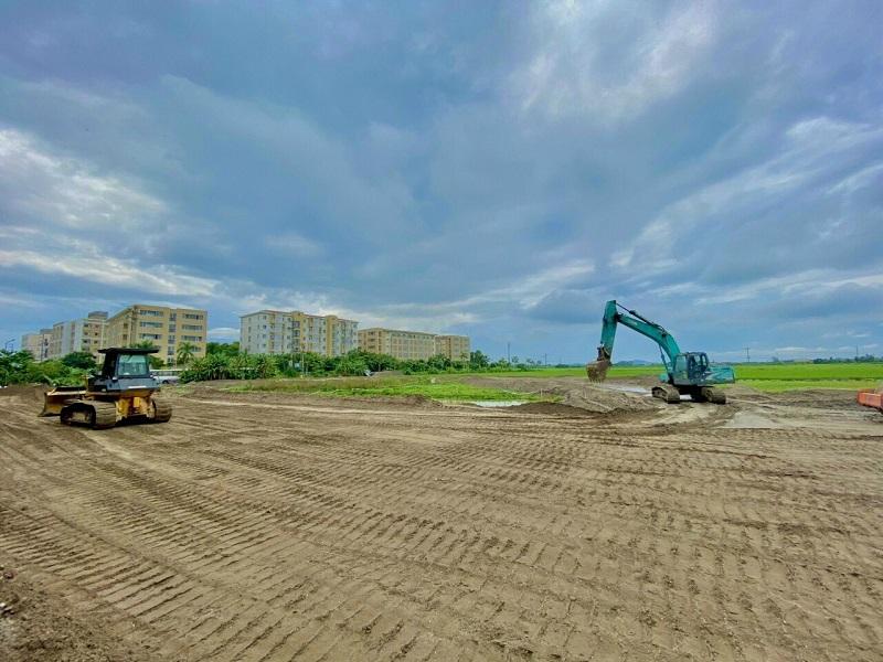 Ảnh thực tế 3 tiến độ thi công dự án khu đấu giá Đông Yên - Yên Phong - Bắc Ninh