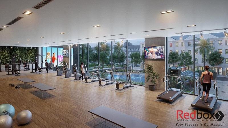 Tiện ích phòng gym Lacasta Tower Văn Phú