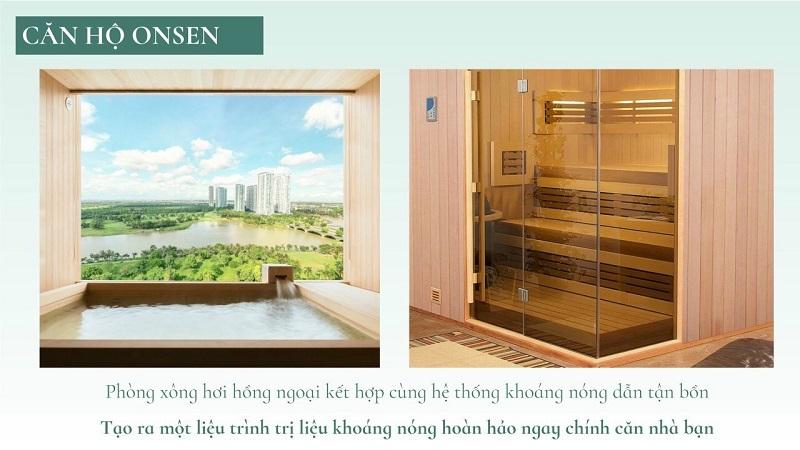 Phòng xông hơi hồng ngoại & bồn tắm onsen tại chung cư Landmark Ecopark