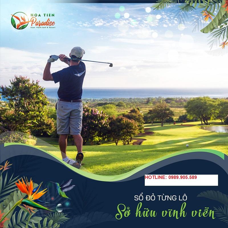 Sân golf 18 hố tại Hoa Tiên Paradise - Xuân Thành