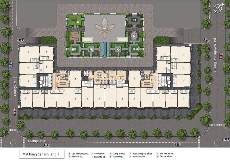 Tiện ích tầng 1 BID Home Eden Garden Thái Bình