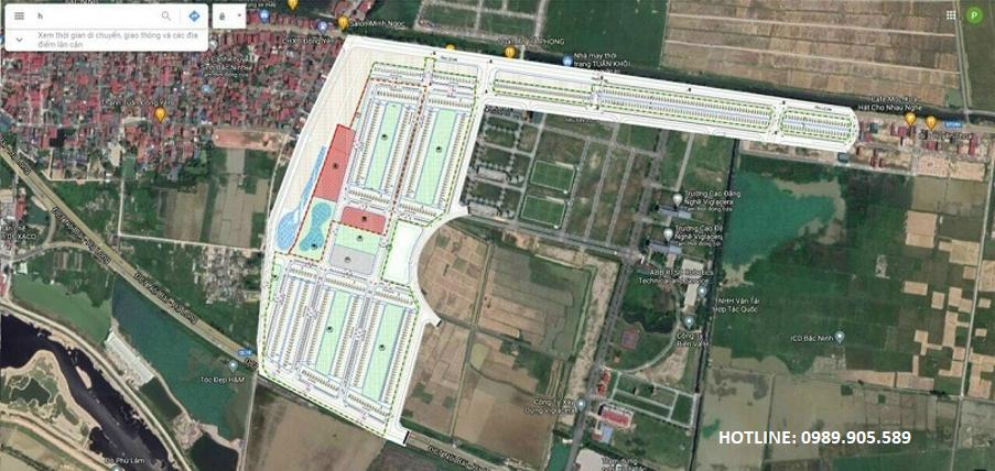 vị trí đất đấu giá Đông Yên - Yên Phong