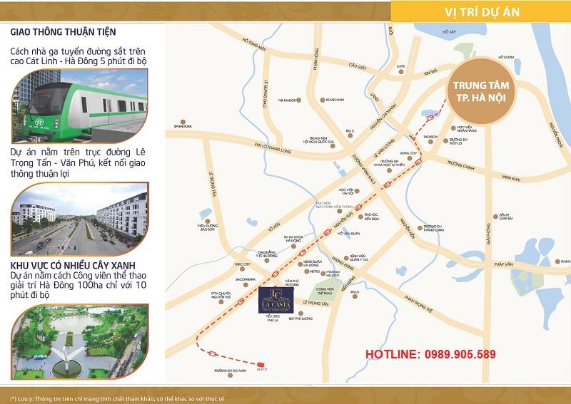 Vị trí vàng Lacasta Tower Văn Phú - Hà Đông