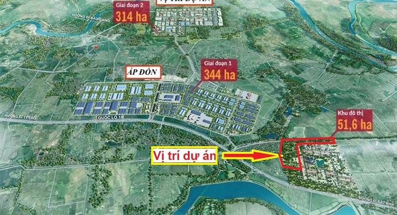 vị trí đất đấu giá Đông Yên - Bắc Ninh