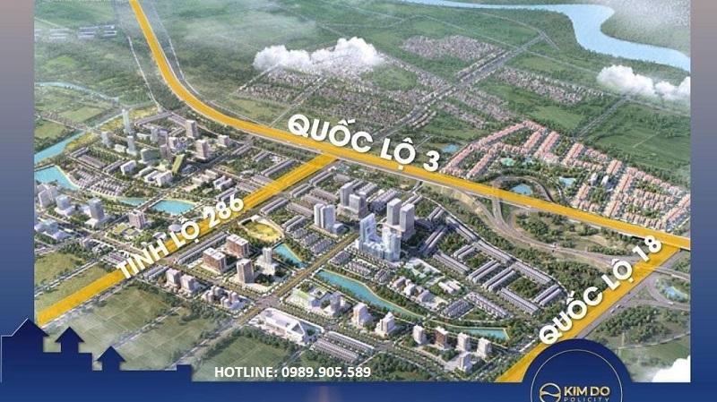 Vị trí dự án Kim Đô City Bắc Ninh