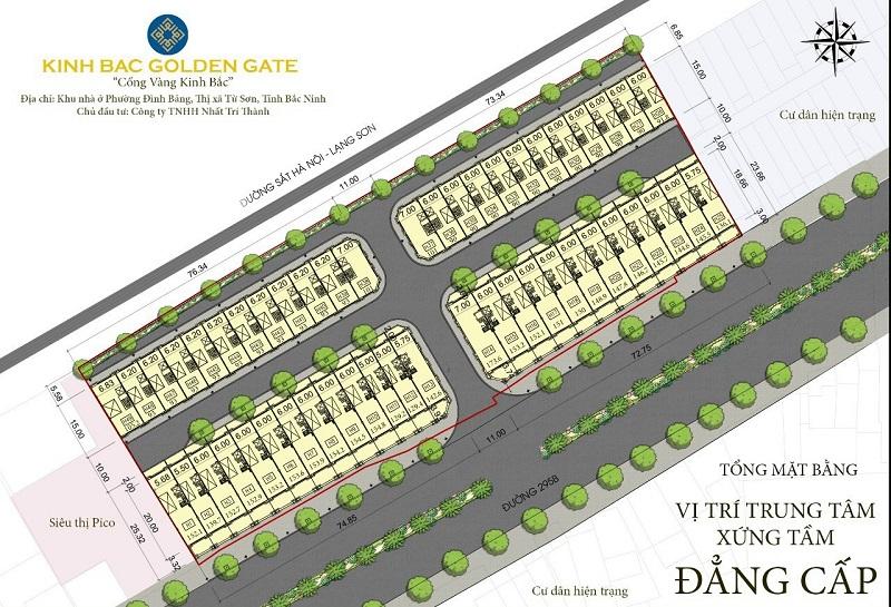 Mặt bằng phân lô dự án Golden Gate Bắc Ninh