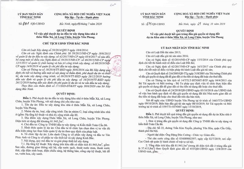 Pháp lý hoàn chỉnh dự án Long Châu Star - Bắc Ninh