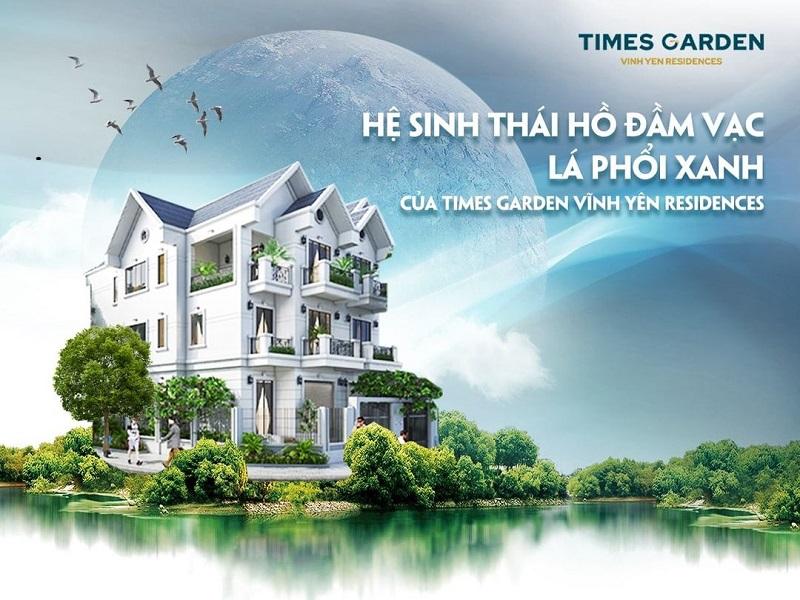 Hồ Đầm Vạc tại KĐT Times Garden Vĩnh Phúc