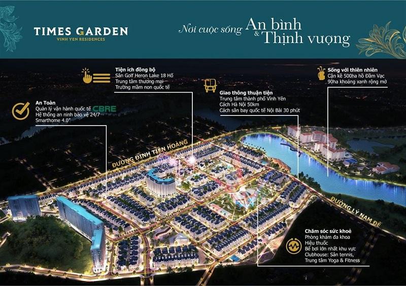 Phối cảnh 4 Khu đô thị Times Garden Vĩnh Yên - Vĩnh Phúc
