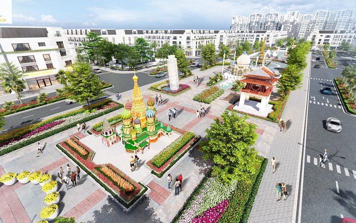Quảng trường dự án Việt Hàn Phổ Yên
