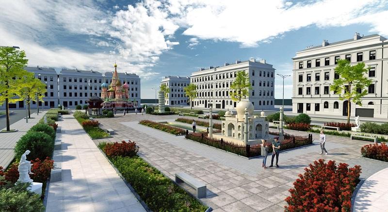 Quảng trường dự án Việt Hàn Phổ Yên 4