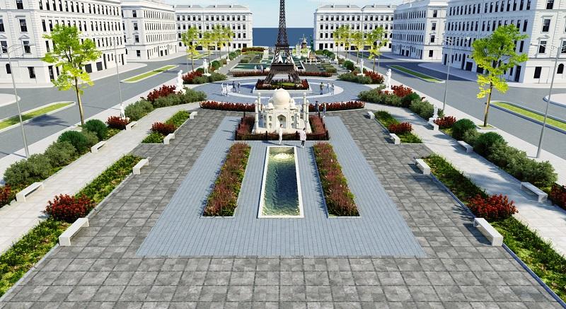 Quảng trường dự án Khu đô thị Việt Hàn Phổ Yên 3