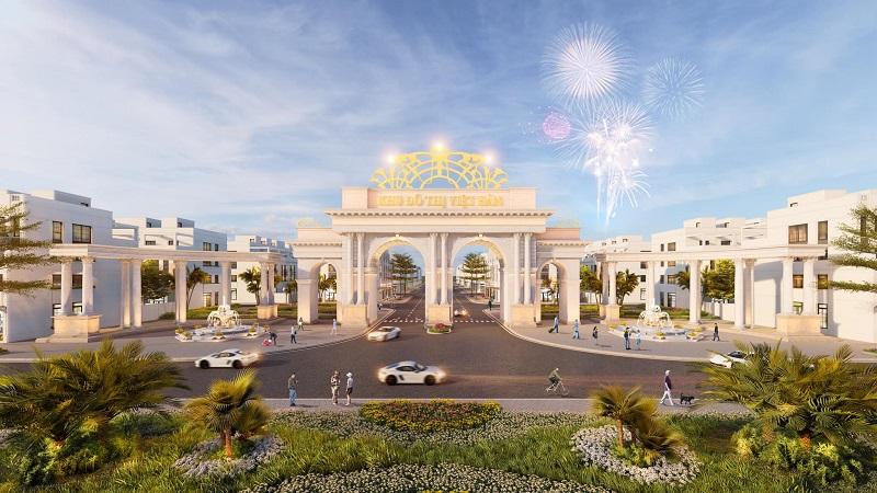 Cổng vào dự án Khu đô thị Việt Hàn Phổ Yên