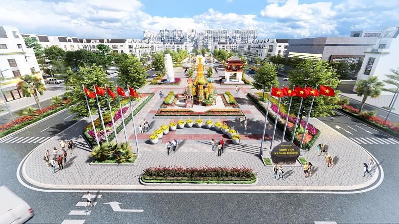 Công viên kì quan thế thới tại dự án Khu đô thị Việt Hàn Phổ Yên
