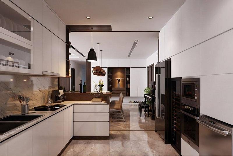 Ảnh mẫu phòng bếp căn hộ Grandeur Palace Văn Phú Invest