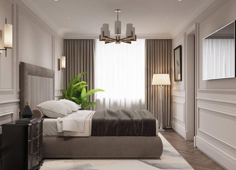 Ảnh mẫu phòng ngủ căn hộ Grandeur Palace Văn Phú Invest
