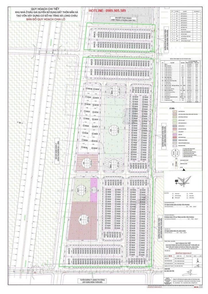 Quy hoạch chi tiết khu đô thị Long Châu Star - Bắc Ninh
