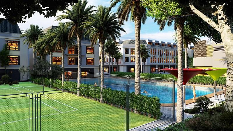 Tiện ích bể bơi, sân thể thao tại Việt Hàn City