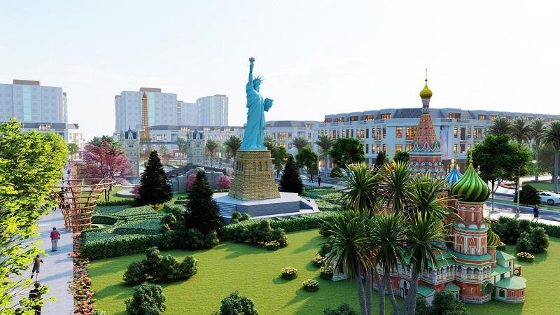 Tượng Nữ Thần Tự Do Mỹ tại KĐT Việt Hàn Thái Nguyên