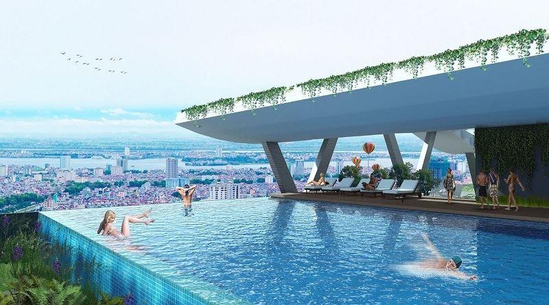 Tiện ích bể bơi chung cư Grandeur Palace Phạm Hùng