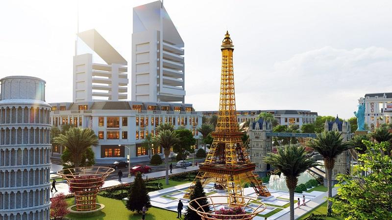 Tháp Eiffel Pháp tại KĐT Việt Hàn Thái Nguyên