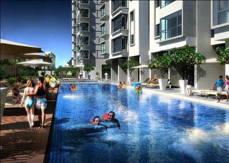 Bể bơi tại Hà Nội Garden City - Long Biên