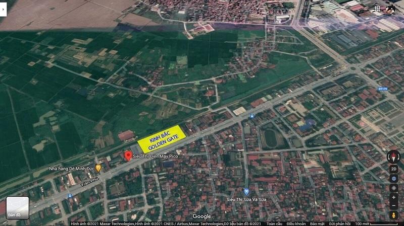 Vị trí dự án Kinh Bắc Golden Gate 1-2 Trần Phú - Bắc Ninh