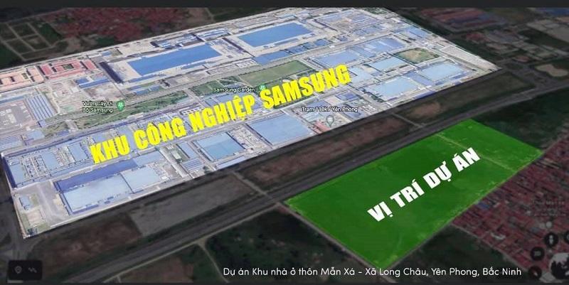 Vị trí dự án Long Châu Star - Mẫn Xá - Yên Phong - Bắc Ninh