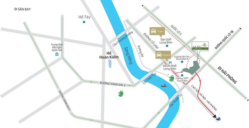 Kết nối giao thông Hà nội Garden City - Long Biên