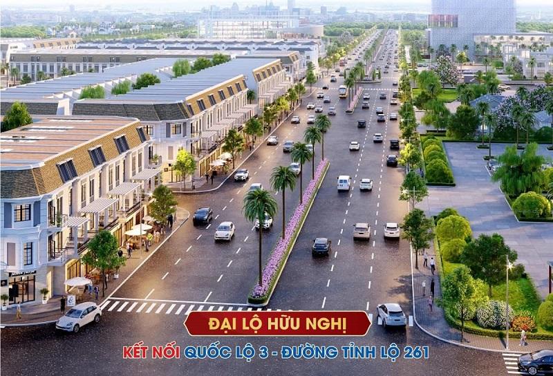 Đại lộ hữu nghị khu đô thị Việt Hàn Phổ Yên - Thái Nguyên